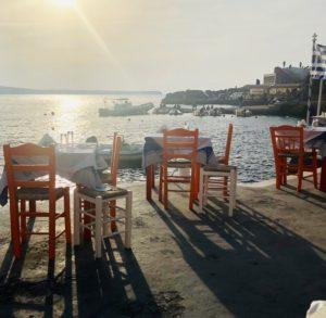 santorini sunset gluten free greece